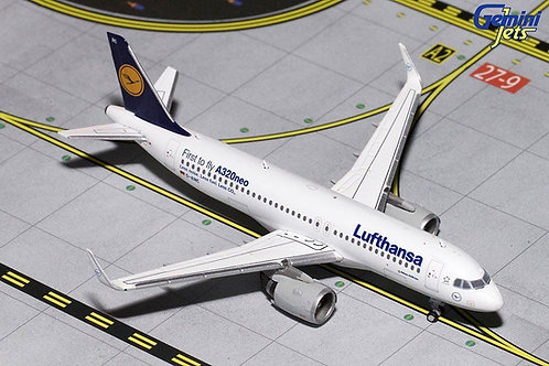 """Gemini - Lufthansa Airbus """"First to Fly A320neo"""" D-AINC 1/400"""