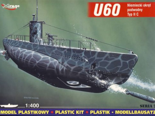Mirage Hobby - German U-Boat U60 type 2C 1/400