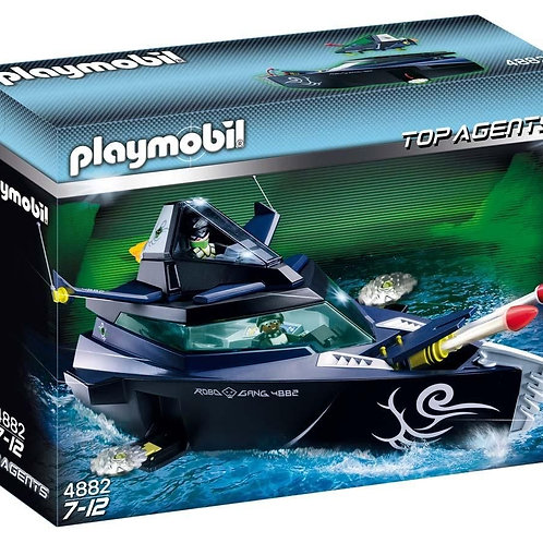 Playmobil 4882 Top Agents - Robo-Gangster Boat with Mini Jet Plane