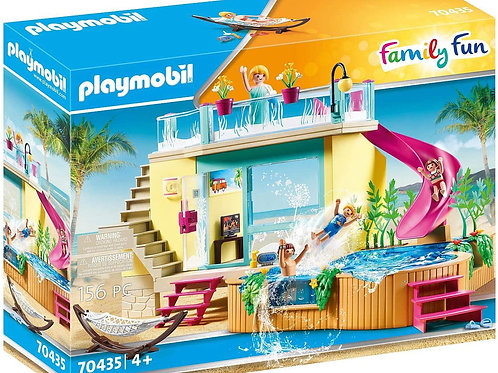 Playmobil 70435 Family Fun - Bungalow with Pool