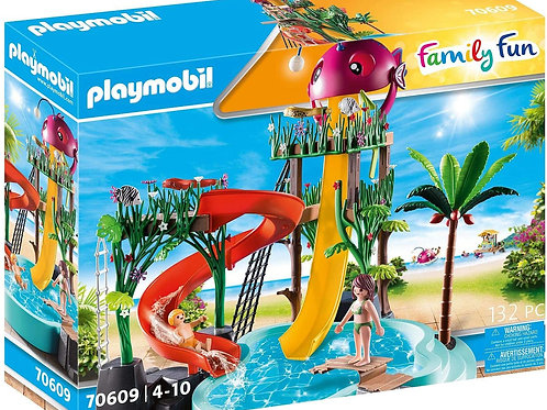 Playmobil 70609 Family Fun - Water Park with Slides