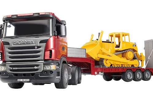Bruder 03555 - Scania R-Series Low Loader 1/16