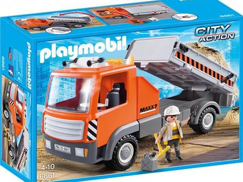 Playmobil 6861 City Action - Flatbed Construction Truck