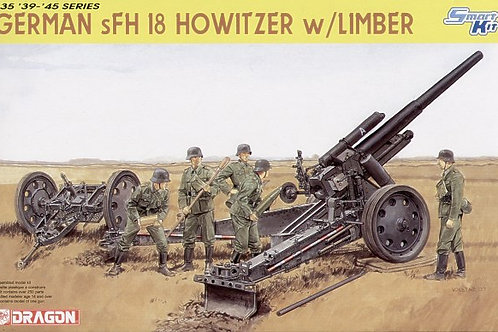 Dragon - German sFH 18 Howitzer with Limber 1/35