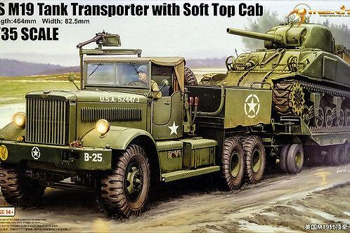 Merit - US M19 Tank Transporter w/Soft Top Cab