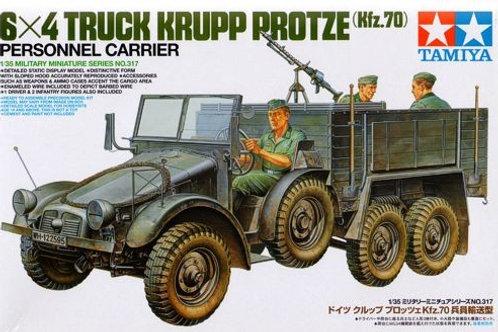 Tamiya - German Personnel Carrier 6x4 Truck Krupp Protze (Kfz.70) 1/35