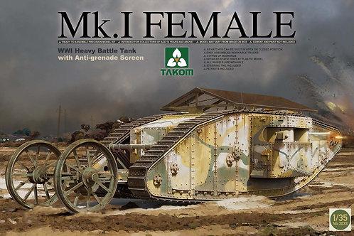 Takom - British WWI Heavy Tank Mk.I Female 1/35