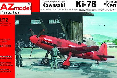 """AZ Model - Kawasaki Ki-78 Ken """"Prototype"""" 1/72"""