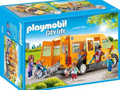 Playmobil 9419 City Life - School Van for Children
