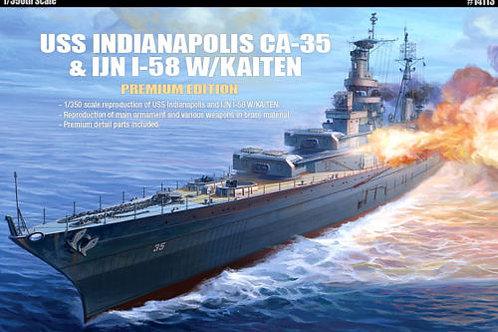 Academy - USS Indianapolis CA-35 & I-58 1/350
