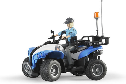 Bruder 63010 - Police Quad with Policewoman 1/16