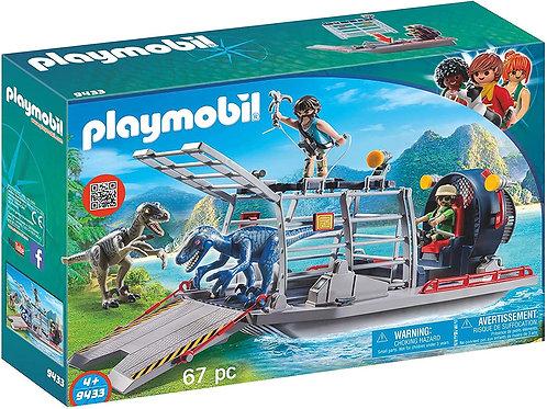 Playmobil 9433 Dinos - Enemy Airboat with Raptors