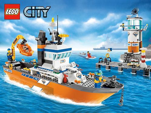 Lego 7739 City - Coast Guard Patrol Boat and Tower