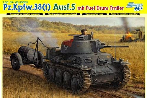 Dragon - Pz.Kpfw.38 (t) Ausf.S mit Fuel Drum Trail