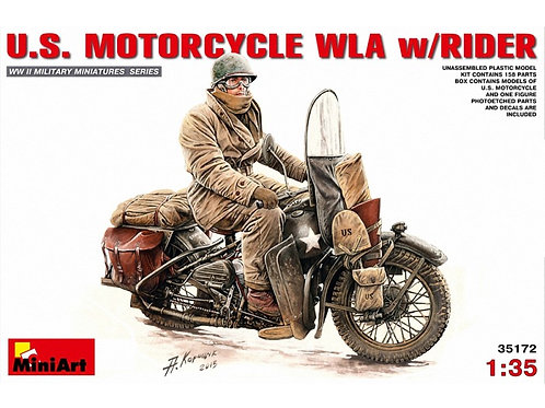MiniArt - U.S. Motorcycle WLA with Rider 1/35