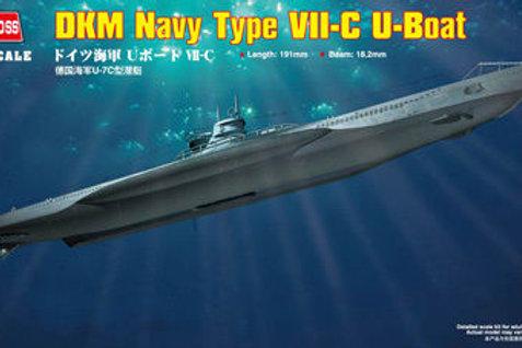 Hobby Boss - DKM U-Boot Type VII/C 1/350