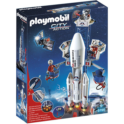 Playmobil 6195 City Action - Space Rocket with Base Station