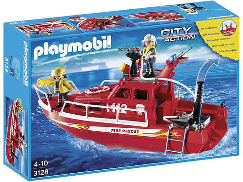 Playmobil 3128 - Fire Rescue Boat with Water Pump