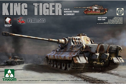 Takom - Sd.Kfz.182 King Tiger Henschel Turret w. Zimmerit 1/35