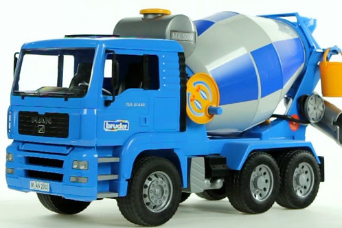 Bruder 02744 - Man Cement Mixer 1/16
