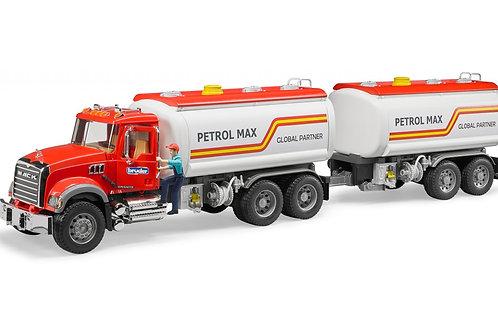 Bruder 02827 + 03925 - Mack Granite Tanker Truck and Tank Trailer 1/16
