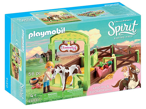 Playmobil 9480 Spirit - Abigail and Boomerang with Horse Stall