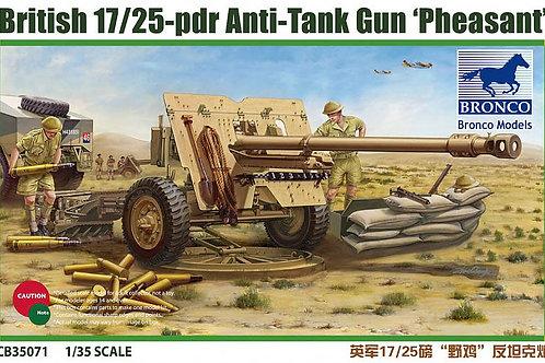 Bronco - British 17/25 Pdr Anti-tank Gun Pheasant