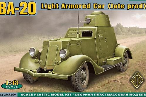Ace - BA-20 Soviet Light Armoured Car - Late 1/48