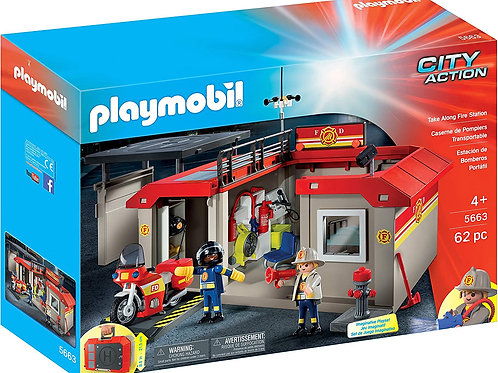 Playmobil 5663 City Action - Take Along Fire Station