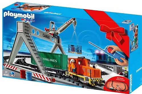 Playmobil 4085 - RC Freight Train with Loading Crane