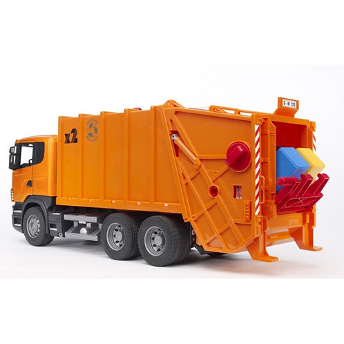 Bruder 03560 - Scania R-Series Garbage Truck - Orange 1/16