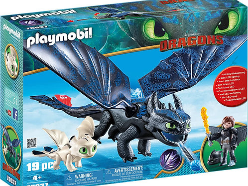 Playmobil 70037 Dragons - Toothless and Hiccup with Baby Dragons