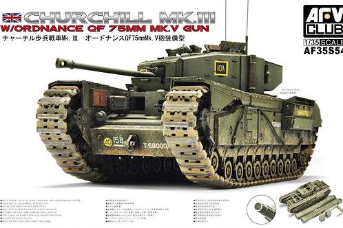 AFV Club - Churchill Mk III w/ QF 75mm Mk V G 1/35