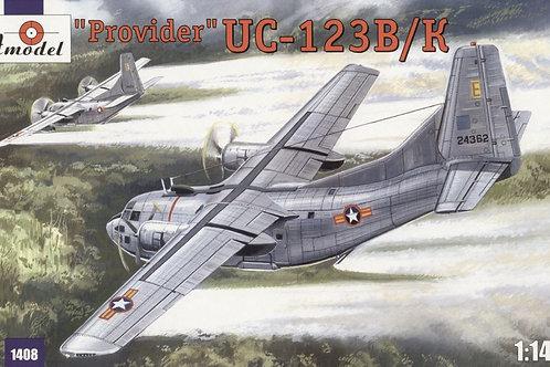 """Amodel - UC-123K """"Provider"""" USAF aircraft 1/144"""