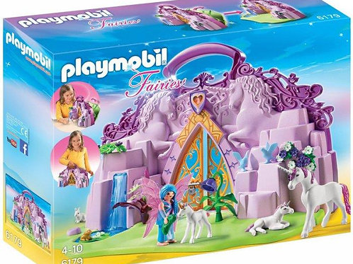 "Playmobil 6179 Fairies - Unicorn Carrying Case ""Fairy Land"""