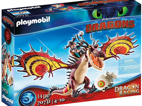 Playmobil 70731 Dragons - Dragon Racing: Rotzbakke and Hook Tooth