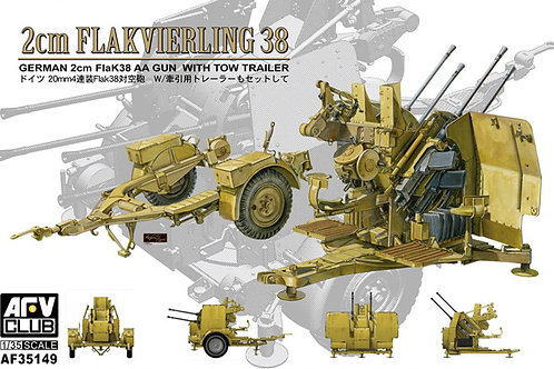 AFV Club - 2cm Flakvierling 38 w/Tow Trailer 1/35