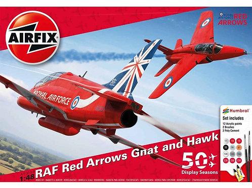 Airfix - RAF Red Arrows Gnat & Hawk 1/48