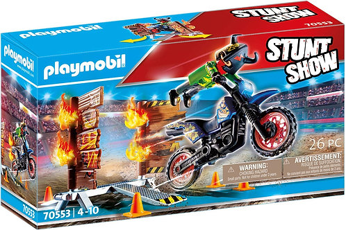 Playmobil 70553 Stuntshow - Motorcycle with Fire Wall