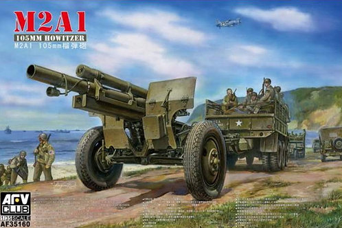 AFV Club - M2A1 105mm Howitzer on M2 Carriage 1/35