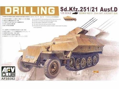 AFV Club - Drilling Sd.Kfz.251/21 Ausf.D 20mm 1/35