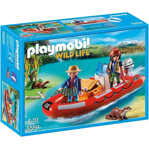 Playmobil 5559 Wild Life - Rubber Boat with Poachers