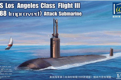 Riich Models - USS Los Angeles Class Flight III Attack Submarine 1/350