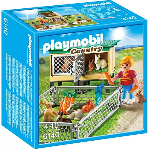 Playmobil 6140 - Farm Rabbit Pen with Hutch