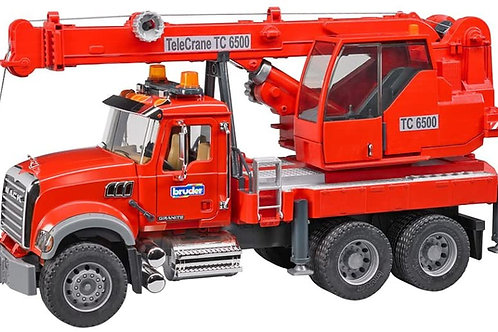 Bruder 02826 - Mack Granite Crane Truck with Light & Sound 1/16