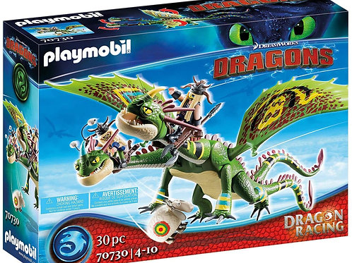 Playmobil 70730 Dragons - Dragon Racing: Ruffnut and Taffnut with Puke and Choke