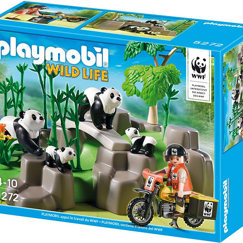 Playmobil 5272 Wild Life - WWF Pandas in Bamboo Forest