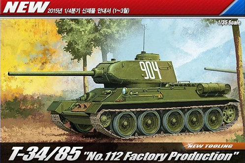 Academy - Russian T-34/85 No.112 Factory 1/35