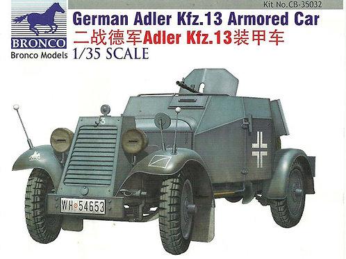 Bronco - German Adler Kfz.13 Armored Car 1/35