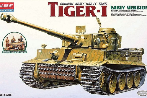 Academy - Tiger I Early Version w/Tank Crew 1/35